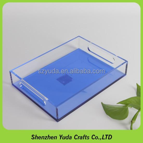 Wholesale Custom Made Rectangular Luxury Clear Acrylic Serving ...