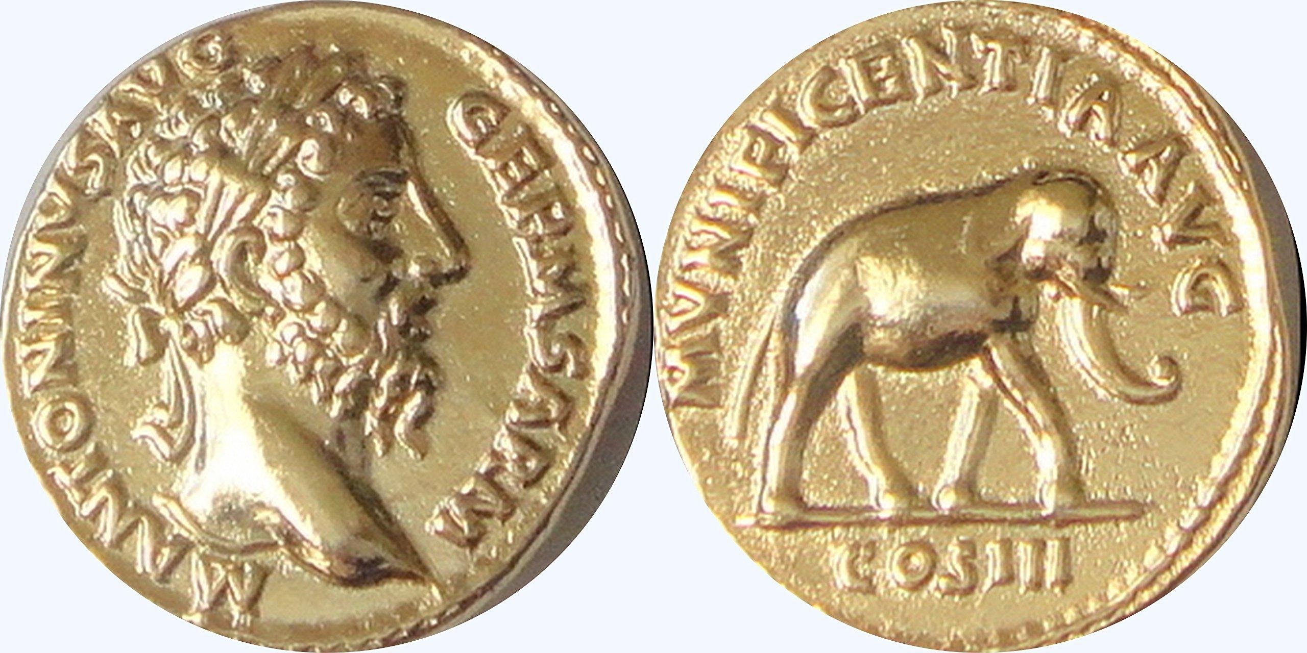 Roman Empire, Marcus Aurelius Coin, Philosopher King, Famous Roman Coin Collection # 26G,