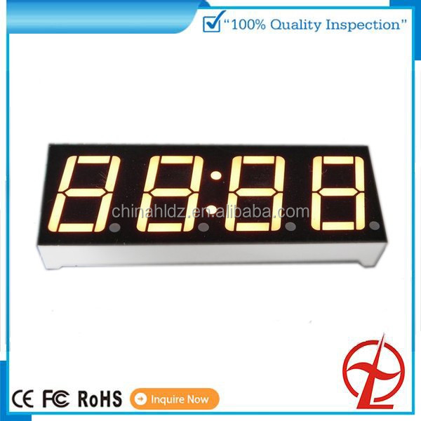 China factory yellow green color OEM digital number LED display 4 digit