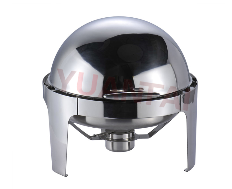 Hot Sale Catering Equipment Stainless steel Lid Roll Top Chafing Dish