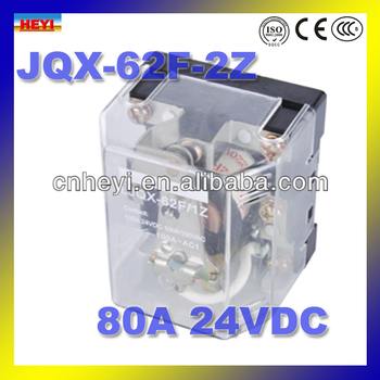 Electromagnetic Type Relay 80a 24v Dc Also Power Relay Jqx62f2z