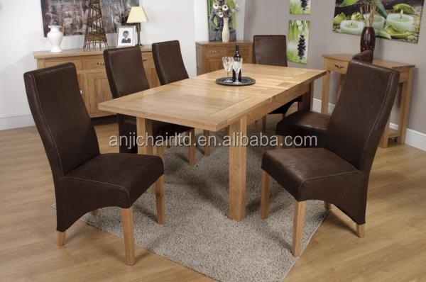 chêne massif 2 feuilles extension à manger table et chaise pour ... - Chaise Pour Table En Bois