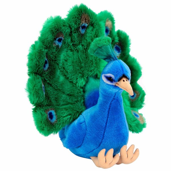 Beautiful Plush Animal Bird Toy Vivid Plush Peacock Soft Toy