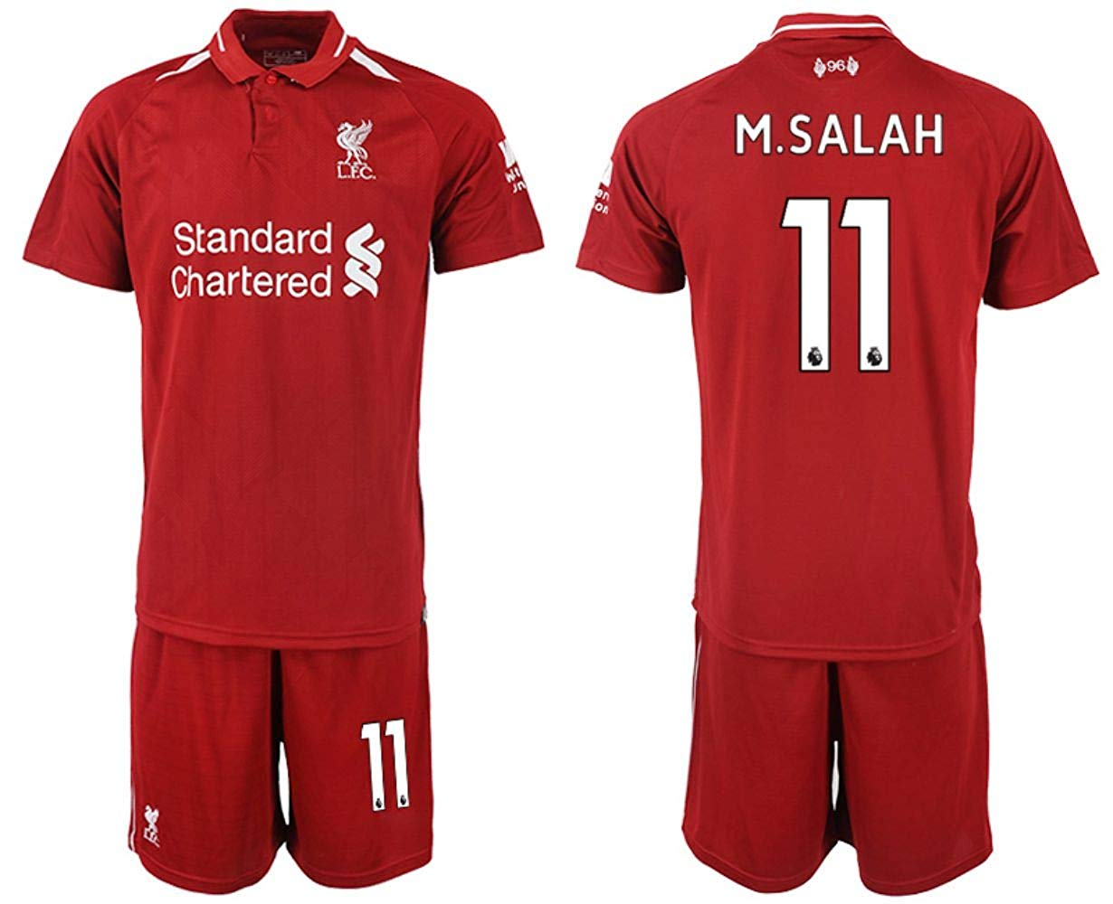 395f9352e Buy LES TRICOT 2018 2019 Liverpool Home  11 SALAH Football Futbol ...