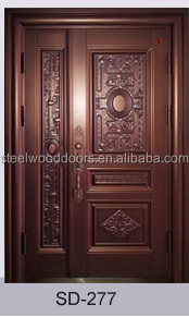 Nigeria Main Entrance Exterior Cheap Steel Security Door Design