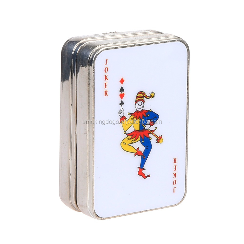 Smoking Dogo Zink Alloy Playing Card Tabacco Grinder Dry Herb Grinder