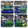 Backyard inflatable water slide inflatable slip and slide with pool