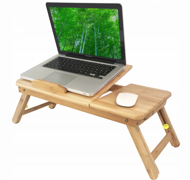 Fashionable popular Comfortable multi function wooden sheet bed portable laptop table
