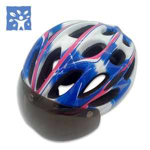 China supplier malaysia style sun protection goggle bicycle race safety helmet