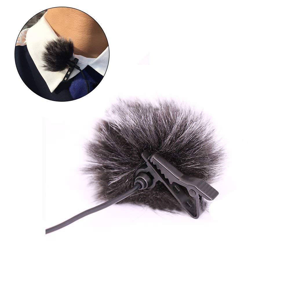 5 Pack Mini-size Lapel Lavalier Microphone Furry Windscreen Muff