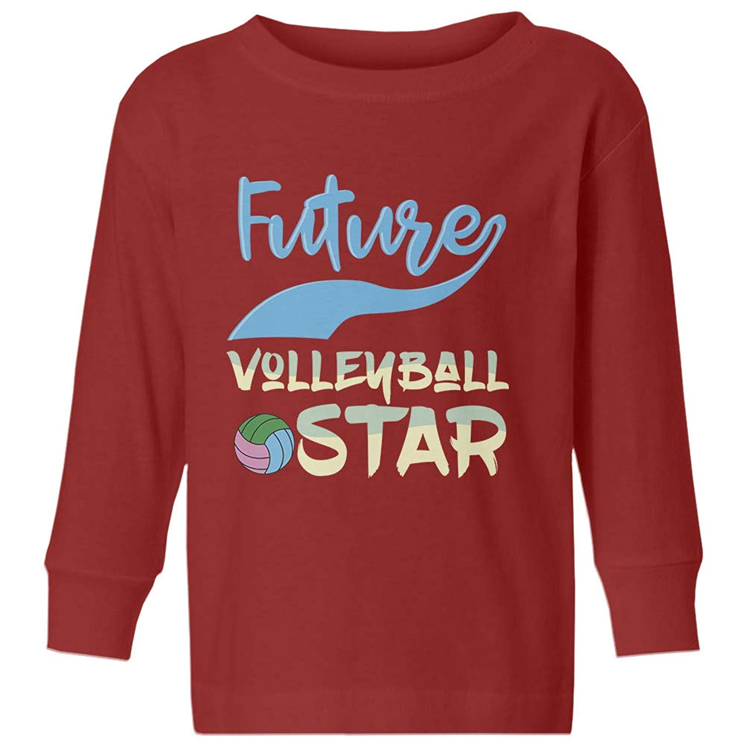 1d1fe5ee1 Get Quotations · Volleyball Little Star Future Volleyball Star Youth &  Toddler Long Sleeve Tee Shirt