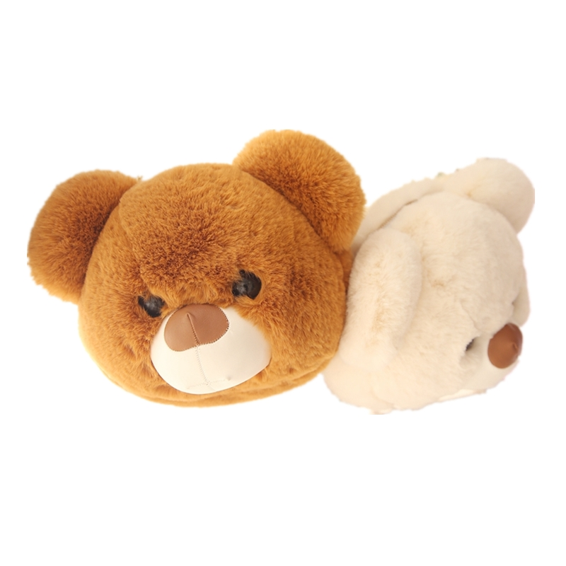 plush bear head bag cute design 3 color