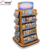 Custom Freestanding 4-Way Book Retail Stand Commercial White Metal Comic Book Store Display Shelves