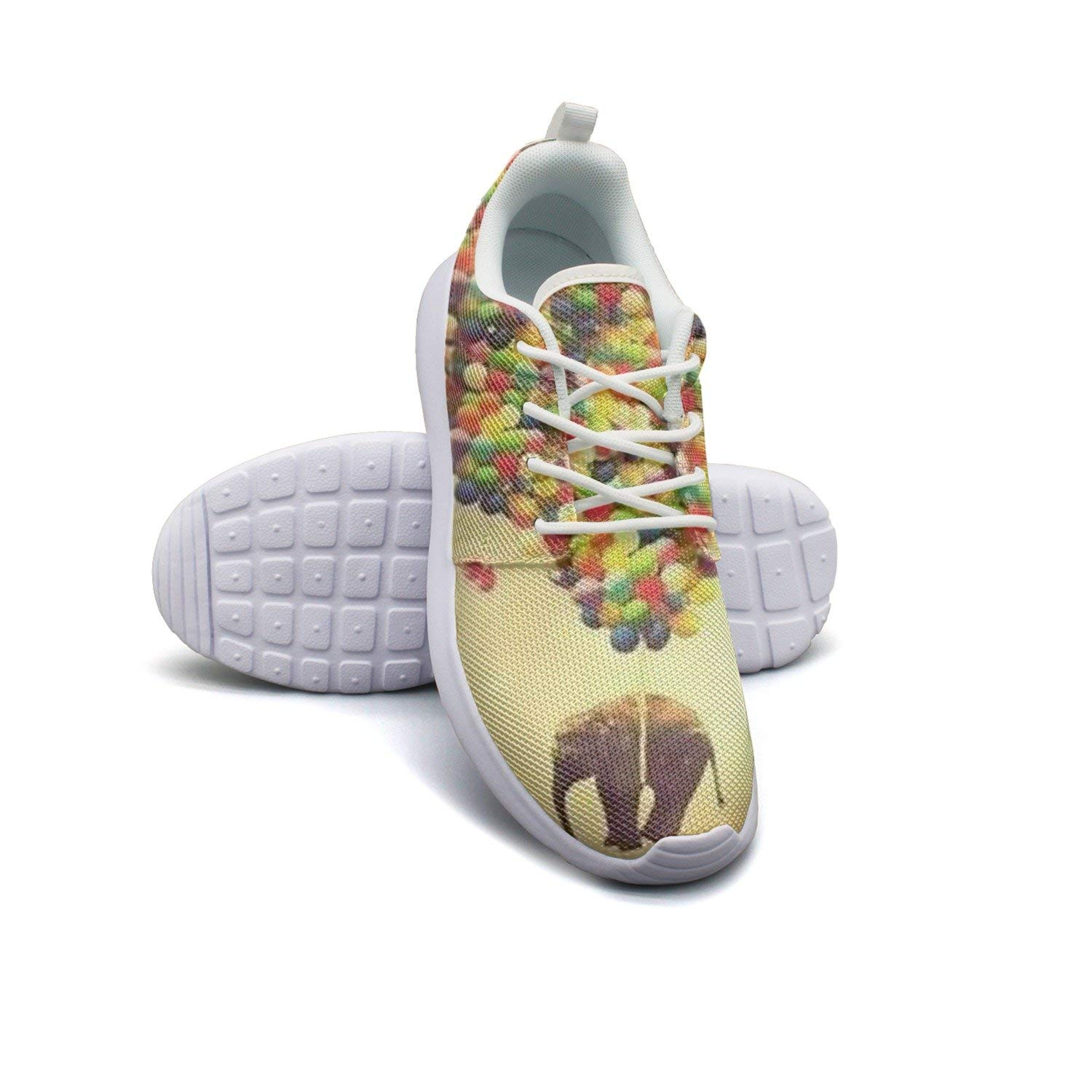 HJXJESSIE Woman's Elephant And Balloon Running Shoes Jogging Runner Sports Sneakers