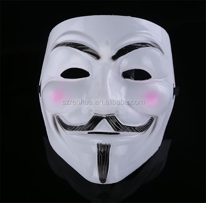 M/áscaras Del Partido V De Vendetta M/áscara De La Mascarilla De La Cara Llena De Guy Fawkes An/ónimo Partido De La Mascarada De Halloween Para El Partido