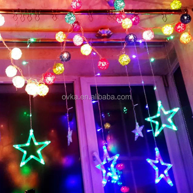 Star curtain lights LED Christmas Lights Party Wedding Led Night Lighting