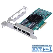 PCI Express PCI-E Gigabit Ethernet Server Small Network Card 1000Mbps LAN Controller Wired 4xRJ45