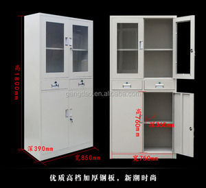 Factory supply steel shallow depth filing cabinet with drawers