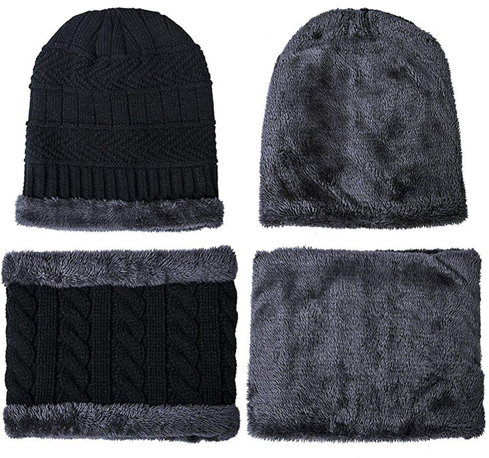 8cb810a5b6e28 China Fleece Caps Set