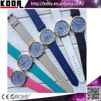 2bde625a4beeb Glitter Colorido relógios senhoras relógio relógio da correia de couro de  moda granel comprar da china