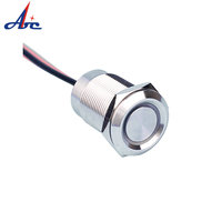 19142 high quality touch type waterproof anti-vandal 19mm dimming led switch