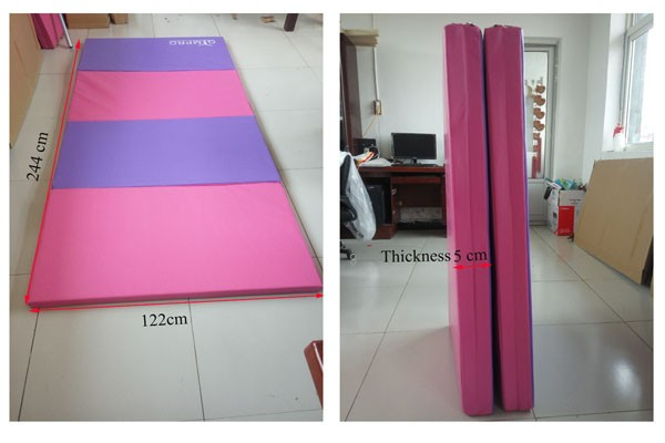 "4' *8' * 2"" Cheerleading and Tumbling Gymnastics Folding Mat"