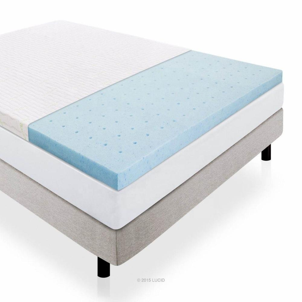 Factory Supply Bed Cool Gel Infused Memory Foam Mattress Topper