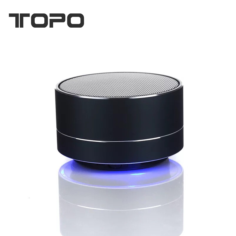 High quality Aluminum alloy LED bass sound wireless portable bluetooth speaker