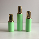 Green color products AS plastic body shiny gold collar cap 30ml new airless bottle