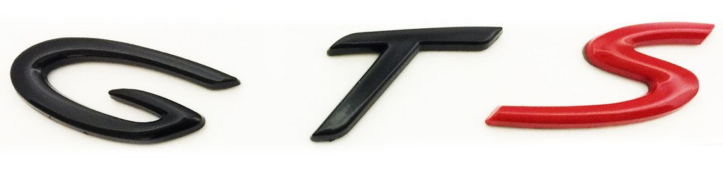 New Porsche Cayenne GTS Black & Red Direct OEM Replacement Emblem / Badge / Name Plate / Decal Replaces OEM 955-559-040-00
