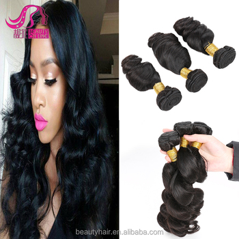Aliexpress Hair Brazilian loose deep Wave 2pc lot FREE SHIPPING Silk Brazilian Loose Wave Black Loose Wave Remy Hair No Tangle