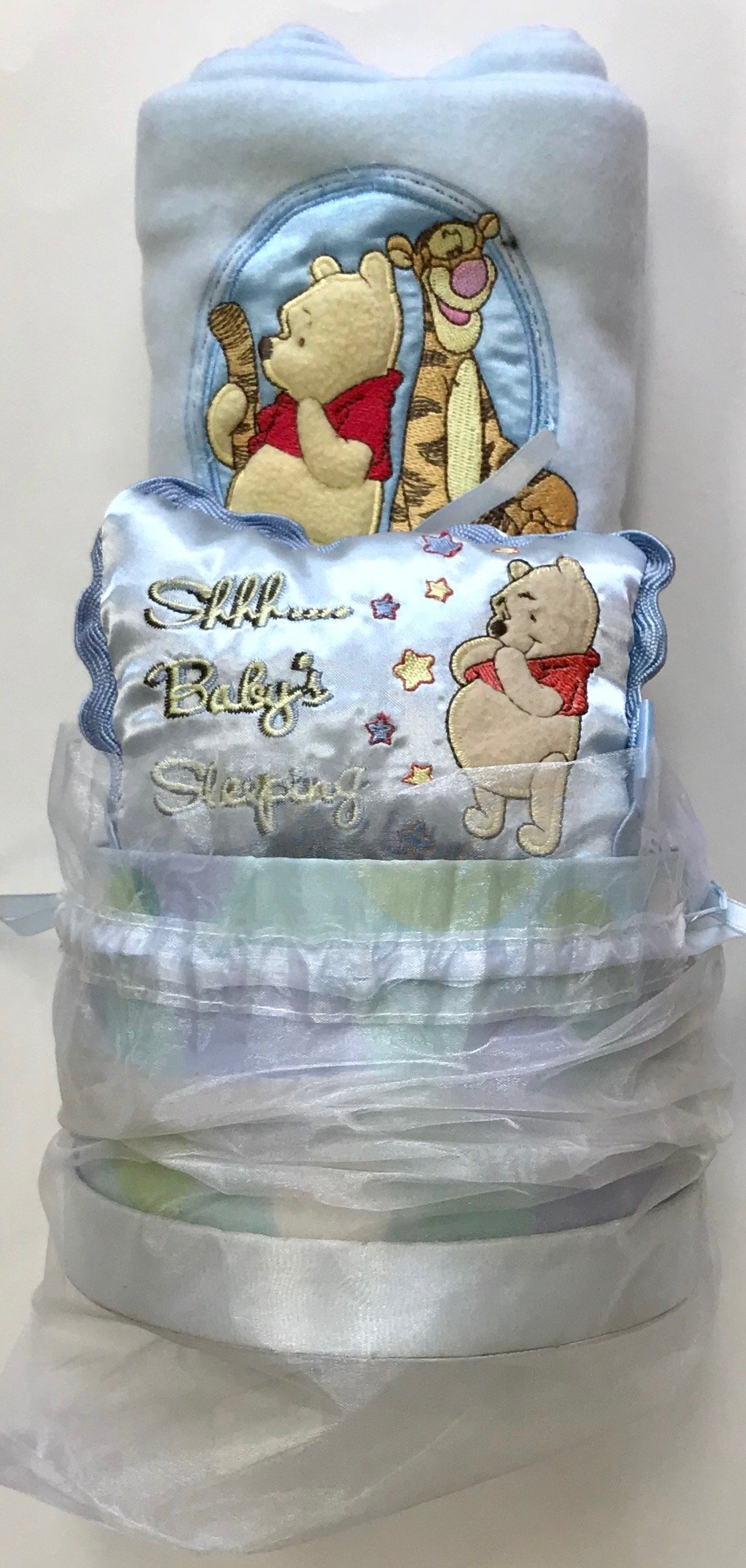 963e1dc7e360 Get Quotations · Disney Winnie The Pooh Baby Gift Set Including Embroidered  Blanket with Small Satin Embroidered Pillow nicely
