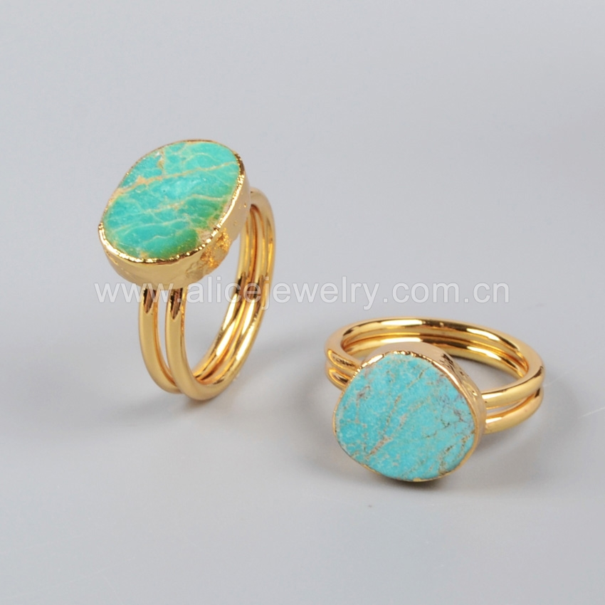 G0149 Natural Turquoise Stone Ring In Boho Style,Boho Rings For ...
