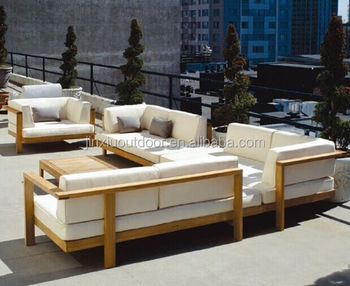 Luxury Modern Design Wooden Outdoor Furniture Teak Sofa Jx