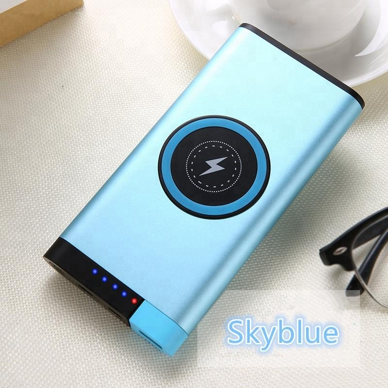 Hot selling QI draadloze oplader power bank 10000mah voor samsung