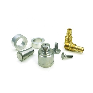 CNC turning of metal parts, brass, aluminum, stainless steel shaft rotating parts