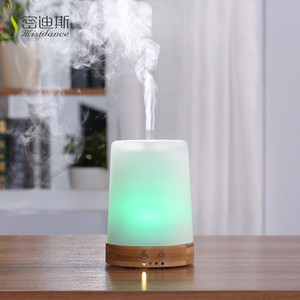 Aroma Essential Oil Diffuser 100ML Aromatherapy Cool Mist Humidifier bamboo glass Ultrasonic Nebulizer