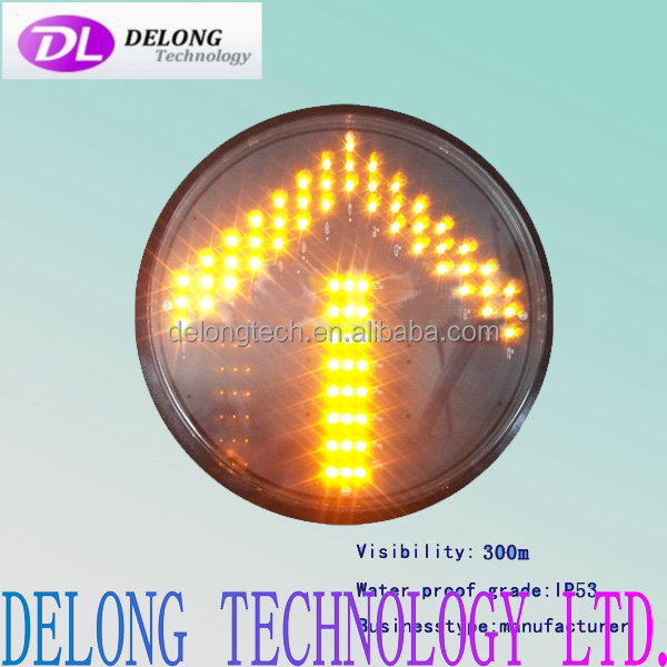 CE RoHS 300mm IP53 yellow direction led arrow traffic light signal
