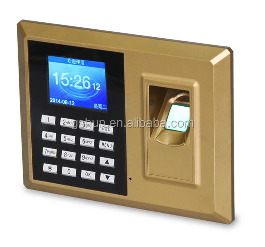Biometric fingerprint recognition time attendance device