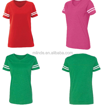 Apparel Custom Team Cricket Jersey Design Ladies V-Neck Tee Short Sleeve T-shirt Cotton Cricket Sports Jersey