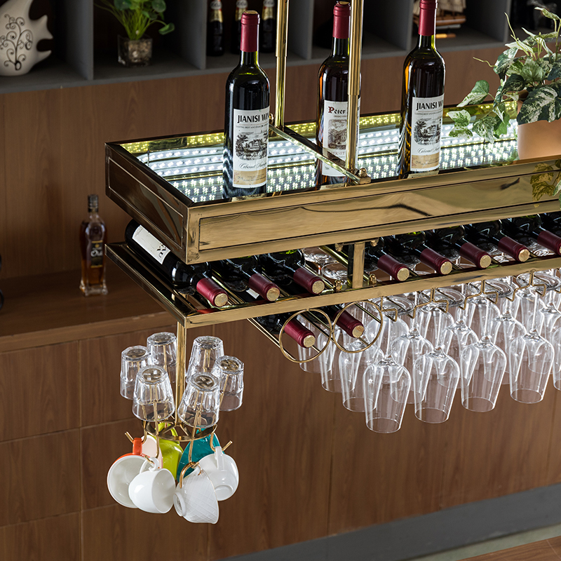 Франция нержавеющая сталь бар bodega погреб Шато полка держатель винный шкаф