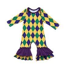 Фиолетовый, зеленый и золотой Марди Гра Праздничные Цвета Детская одежда(Китай)