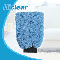 Double Sided Lamb Wool Microfiber Chenille Car Washing Cleaning Mitt Glove