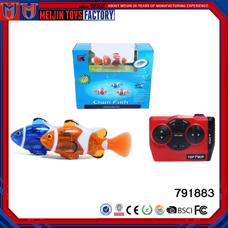 New design kids plastic mini fish shape RC toys for sale