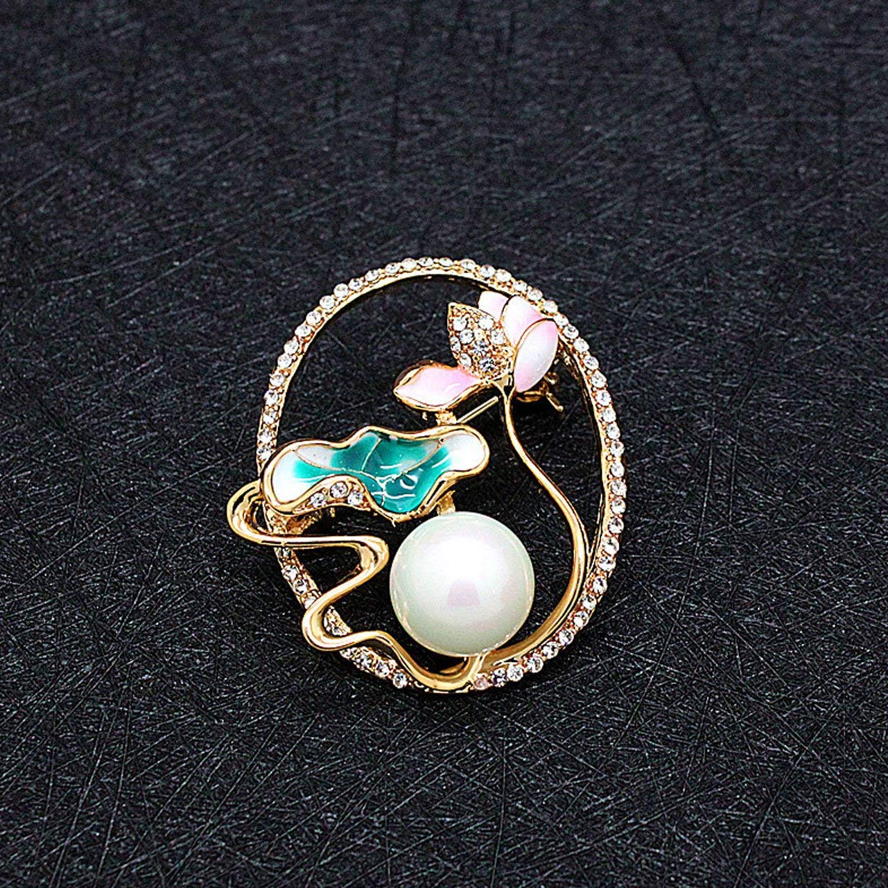 c37a884c2 Get Quotations · Jewelry Crystal Flower Scarf Buckle Brooch pins Simple  Pearl Silk Scarf Buckle Clip for Women Clothing