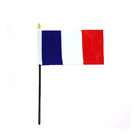 Small France French country hand stick flag