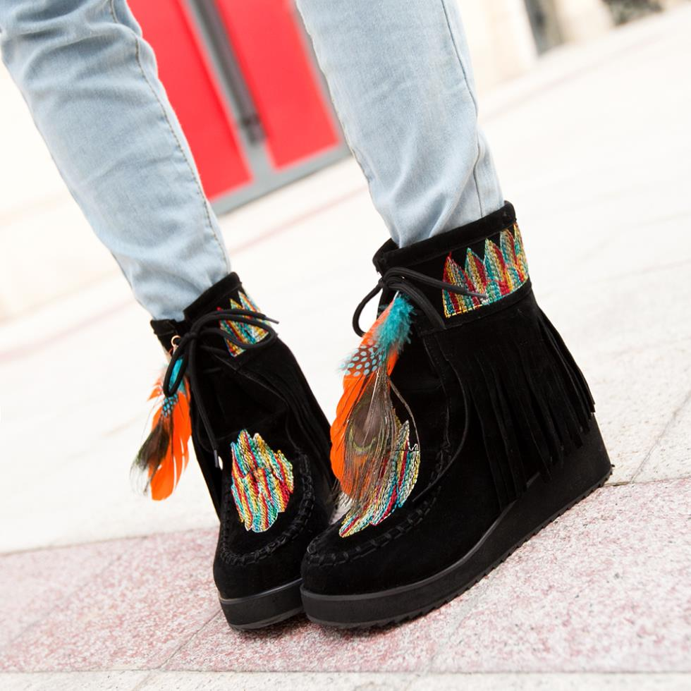 Large Size 34 43 Indian Shoes for Women Autumn Winter Warm