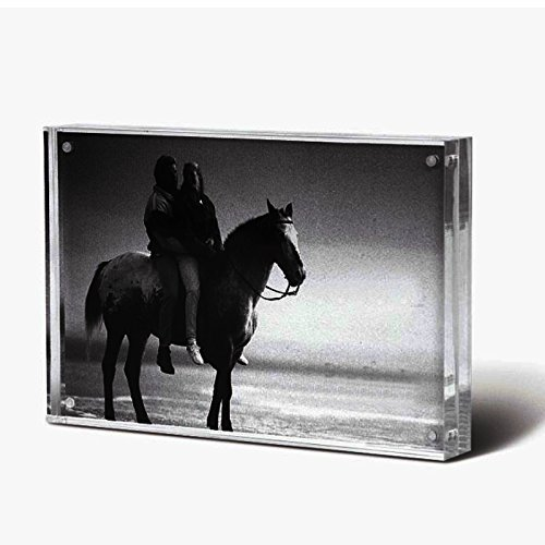 "Standing Magnetic Clear Acrylic Perspex Photo Frames Block(5x7"")"