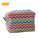 Chevron Wombagen Cosmetic Polyester cosmetics Bag with Zipper shopping bag
