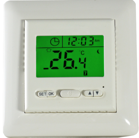 Two isolate switch digital radiant heating room controller